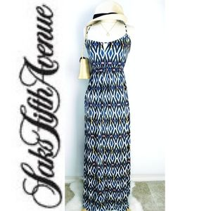 Saks Fifth Avenue Chevron Maxi Dress